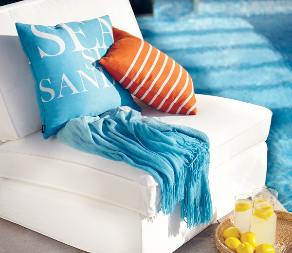 Ombre Throw Turquoise
