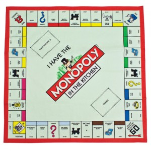 Monopoly Board Tea Towel - mocha.uk.com