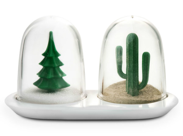 Winter Summer Salt and Pepper Shakers from Mocha