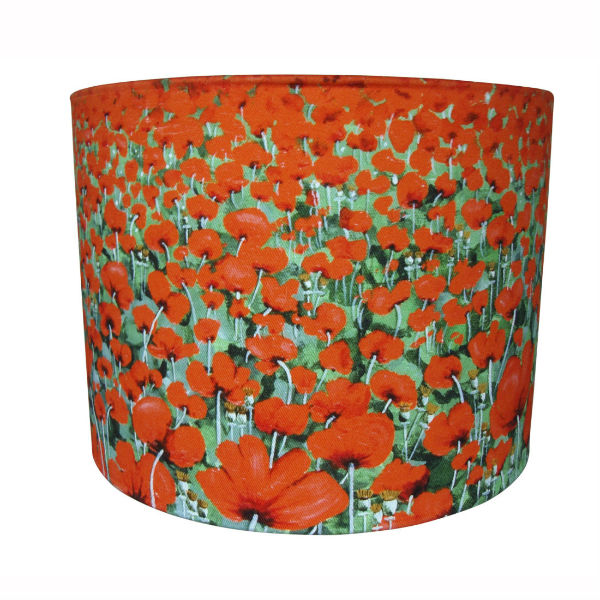 Lampshade Blowing Poppies - lampshades from Mocha