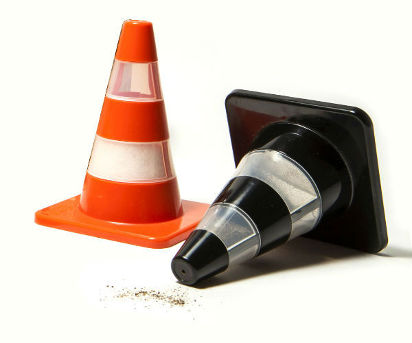 Traffic Cone Salt and Pepper Shakers from Mocha