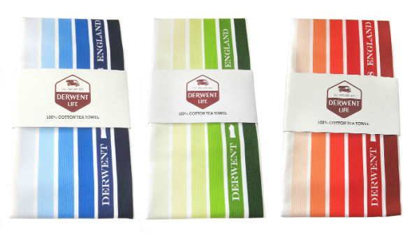 Derwent Life Tea Towels from Mocha