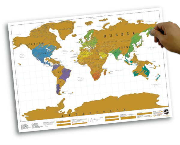 Scratch Map personalised world map poster from Mocha