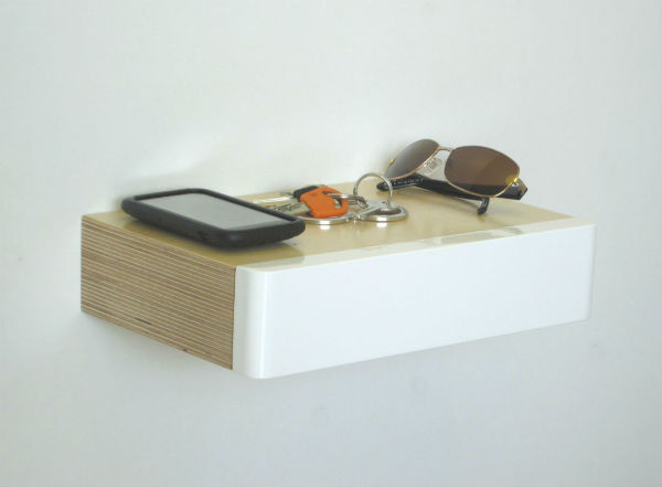 Pacco Floating Drawer Birch White by Samuel Ansbacher for Mocha