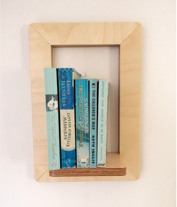 Marco Frame Shelf from Mocha with books