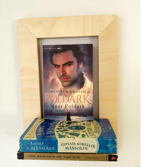 Marco Frame Shelf with Poldark Book