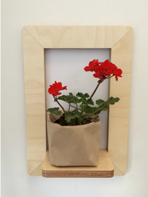 Marco Frame Shelf with geranium from Mocha Casa