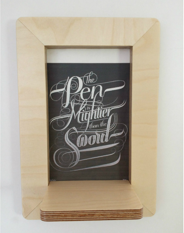 Marco Frame Shelf from Mocha with quotation