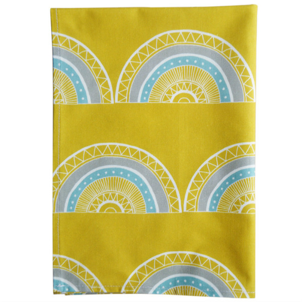 Tea Towel Horseshoe Arch Yellow from Mocha Casa