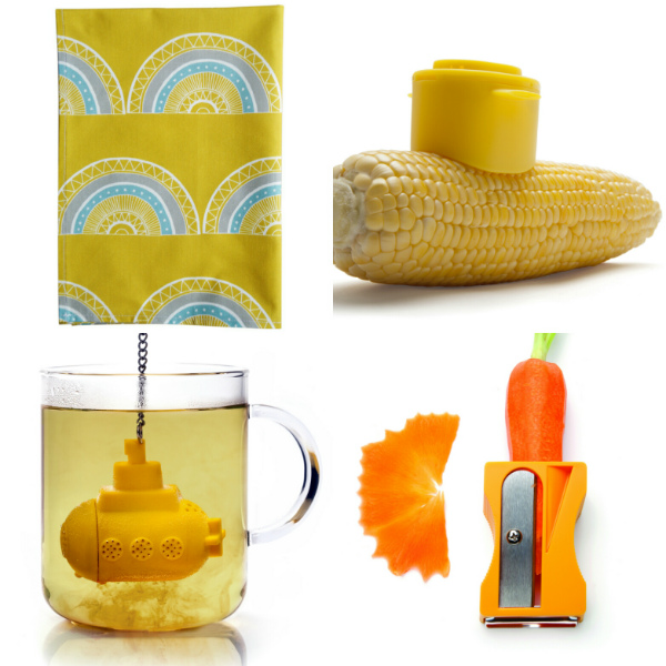 Yellow kitchen accessories from Mocha Casa