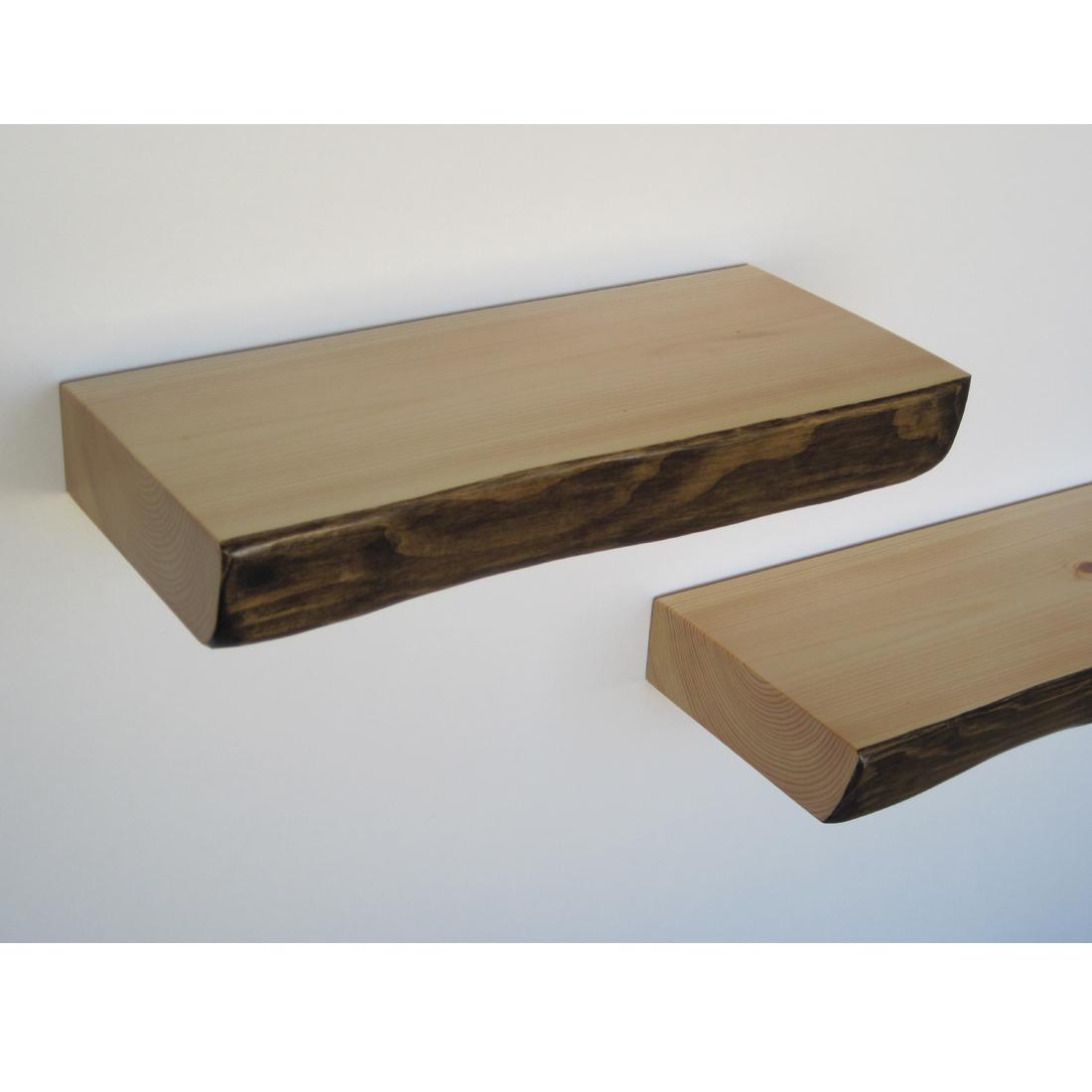 Bark Floating Shelf Homeware Furniture And Gifts Mocha