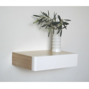 Pacco Floating Drawer in birch white from Mocha