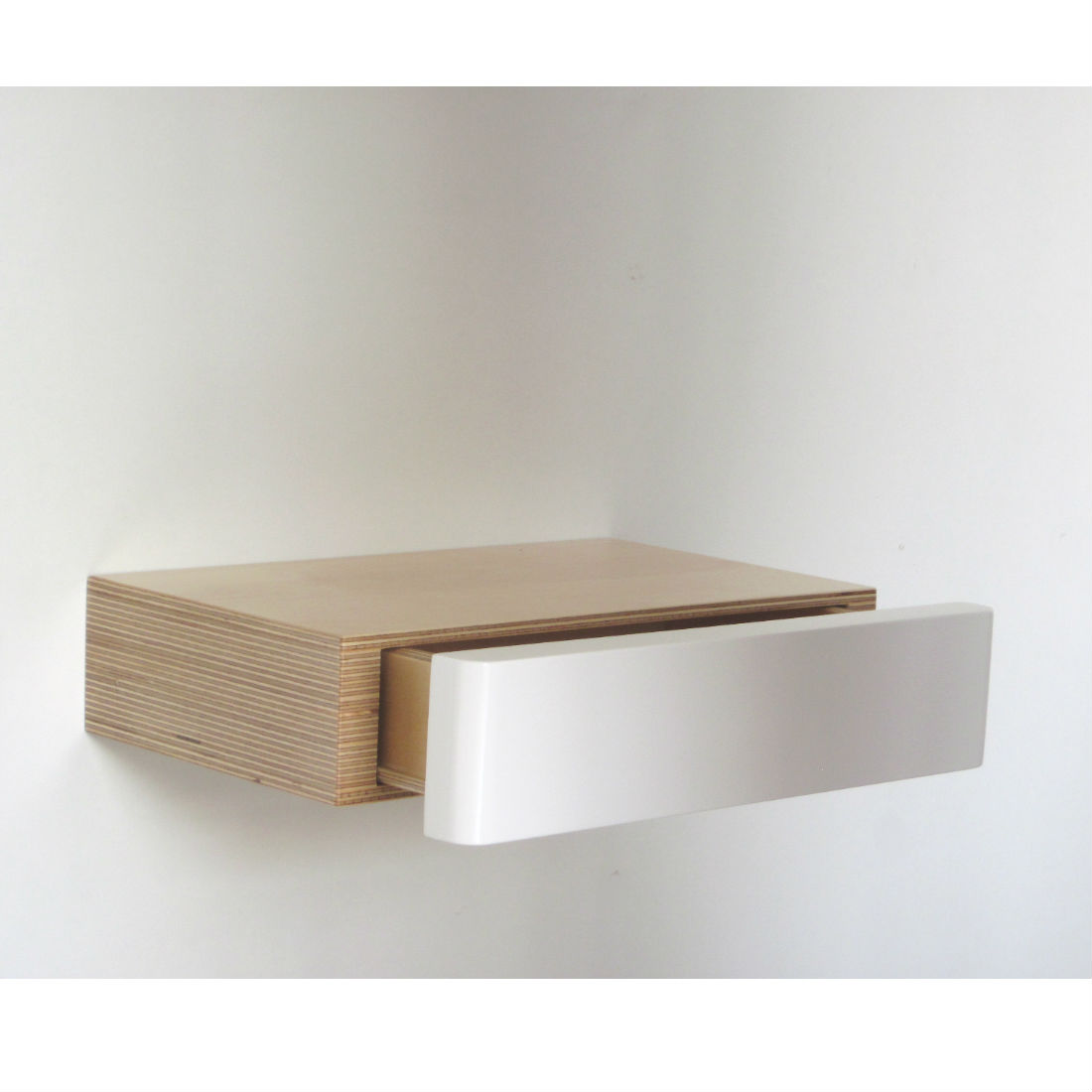 Floating Drawer pacco floating drawer: birch white – homeware, furniture and gifts