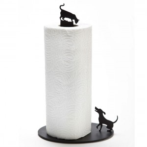 Dog vs Cat Kitchen Roll Holder from Mocha