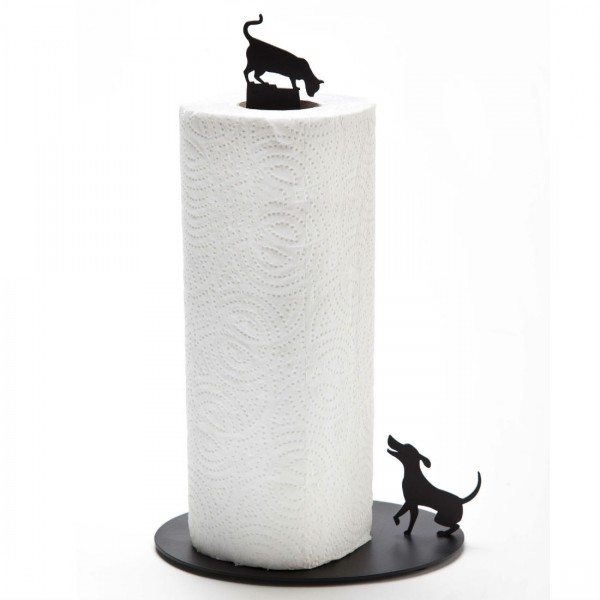 Dog vs Cat Kitchen Roll Holder from Mocha