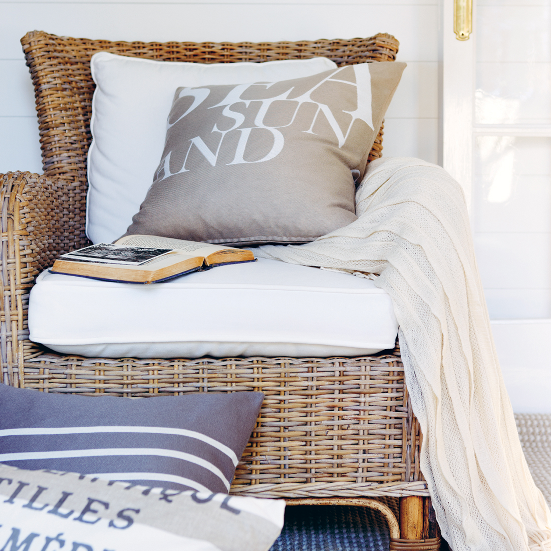 Ombre Throw: Sand – Homeware, Furniture And Gifts