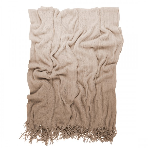 Ombre Throw in sand from Mocha