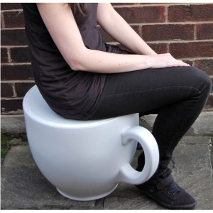 Tea Cup Stool from Mocha