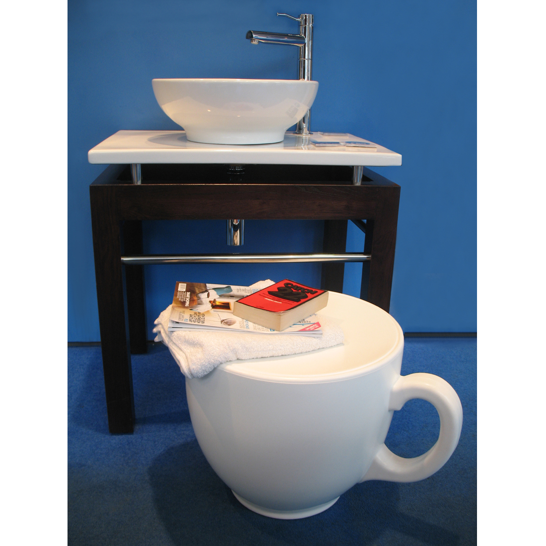 Tea cup stool homeware furniture and gifts mocha tea cup stool bathroom stool fandeluxe Epub