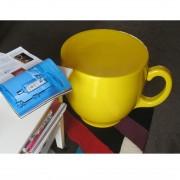 tea-cup-stool-yellow