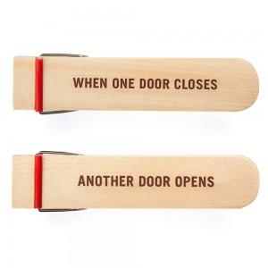 Opening Door Stop - when one door closes