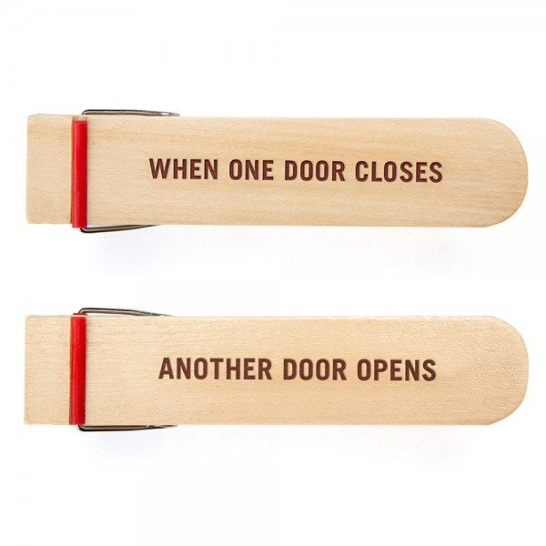Opening Door Stop - when one door closes