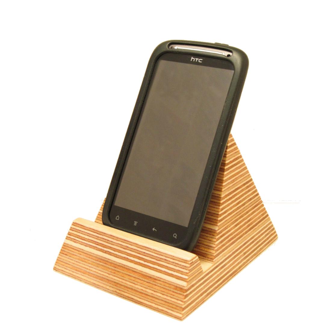 Pyramid Phone Holder Homeware Furniture And Gifts Mocha