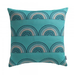 Horseshoe Arch Cushion Teal from Mocha by Sian Elin