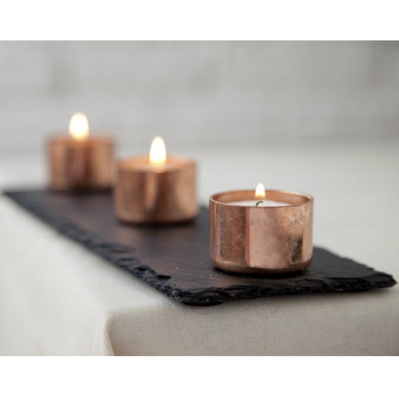Copper And Slate Candle Holder Set Homeware Furniture