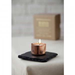 Copper Slate Candle Holder Square from Mocha Casa