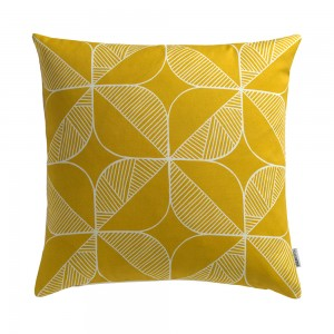 Rosette Cushion in yellow by Sian Elin from Mocha