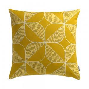 Rosette Cushion in yellow by Sian Elin from Mocha