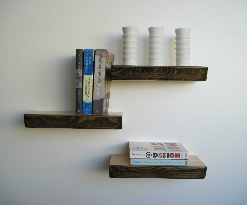 Floating shelves from mochacasa