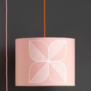 Large Rosette Lampshade in rose quartz by Sian Elin from Mocha Casa