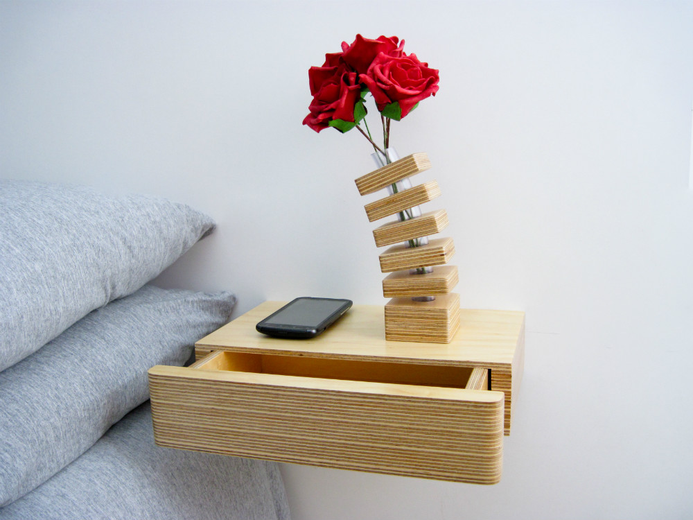 Pacco Floating Bedside Table from Mocha Casa
