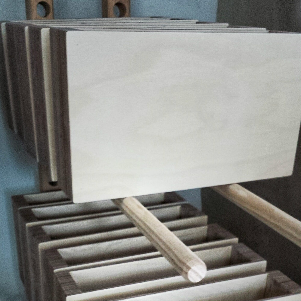 Production of the Pacco Floating Drawers from Mocha Casa