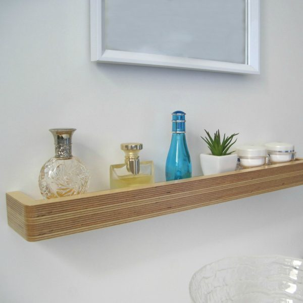 Slimline Floating Shelf as a bathroom shelf from Mocha Casa