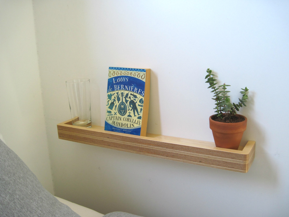 Small Bedside Table Ideas Part - 17: Small Bedroom Ideas - A Picture Ledge Shelf Used In Place Of A Bedside Table