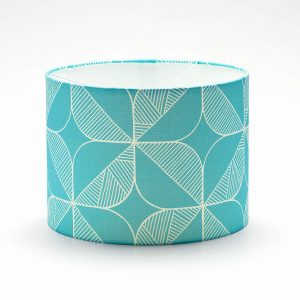 Teal Rosette Lampshade by Sian Elin from Mocha Casa