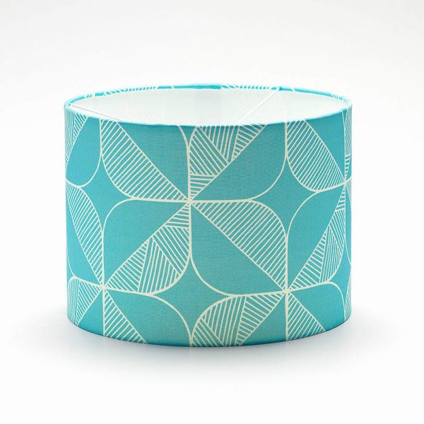 Teal Rosette Lamp Shade Homeware Furniture And Gifts