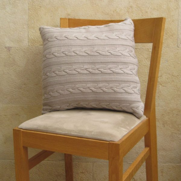 Cable Knit Cushion in natural from Mocha Casa